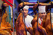 09 JULY 2011 - BANGKOK, THAILAND: Workers in the Hong Kong Noodle shop, a restaurant in the Chinatown section of Bangkok, Thailand. Chinatown is the entrepreneurial hub of Bangkok, with thousands of family owned businesses selling wholesale merchandise in everything from food like rice, peanuts and meats, to dry goods like toys and shoes.  PHOTO BY JACK KURTZ
