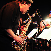 Saxophonist and PMAC executive director Russ Grazier, Jr. performs in Jazz Night 2012 at The Loft in Portsmouth, NH