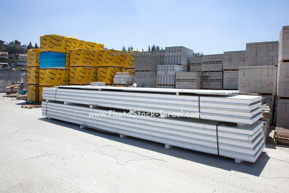 Building material storage site