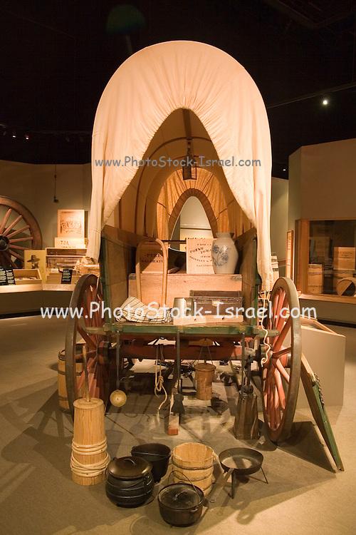 Topeka, Kansas KS, USA, Kansas museum of History, A typical pioneer wagon