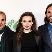 NLD/Amsterdam/20150112 - Premiere 6 Telefilms 2015, Philip Huf, Gaite Jansen en Tomas Kaan