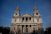 St Paul's Cathedral, London. Designed by Sir Christopher Wren, this is one of London's most famous landmarks and tourist attractions.
