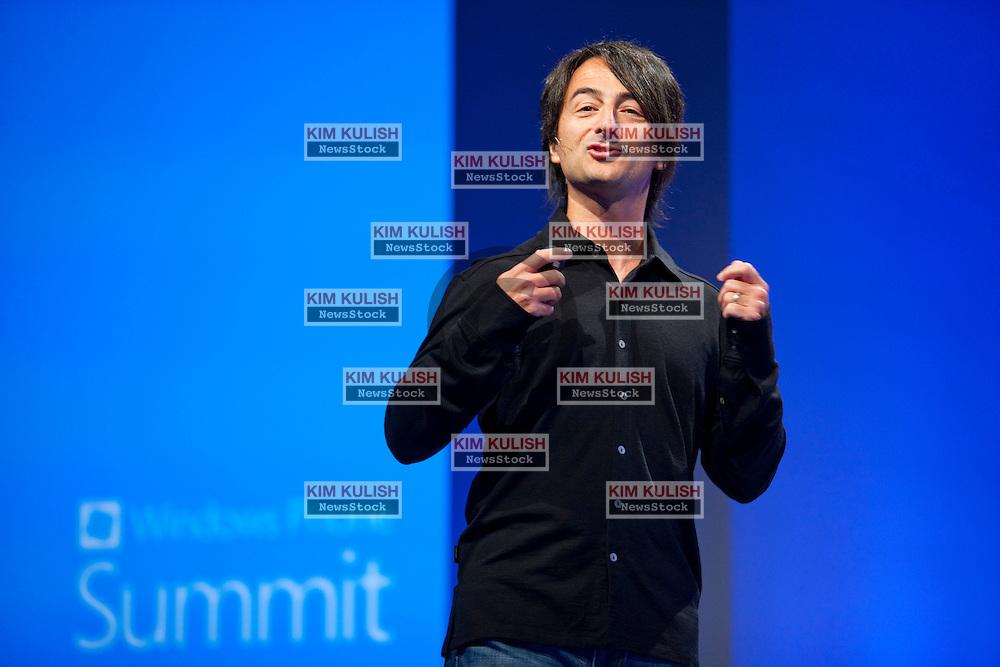 Joe Belfiore, Corporate Vice President Microsoft, previews new features of Windows Phone 8 during a Microsoft Developer Summit in San Francisco, California.