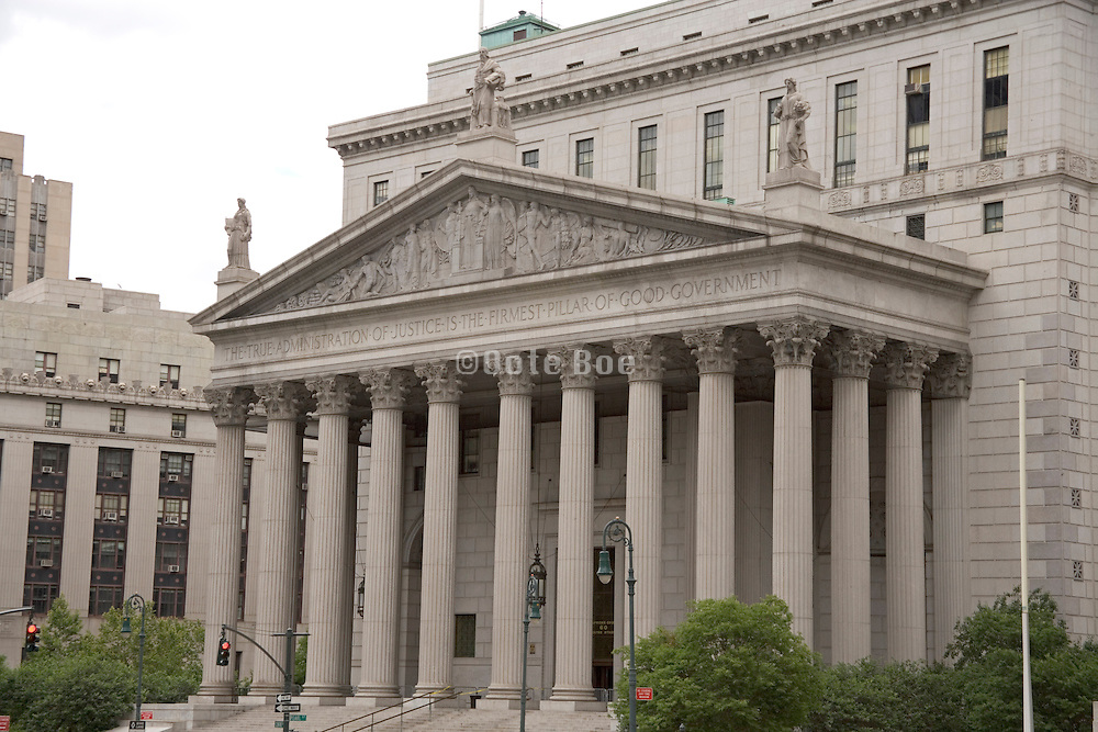 the entrance to the court house in New York City