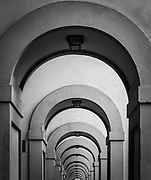 Hallway arches in Florence, Italy