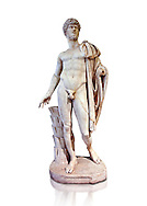 Roman marble sculpture bust of Lucius Verus with the body of Diomedes, Cuma Munich Type, 160-170 AD, inv 6095, Museum of Archaeology, Italy ..<br /> <br /> If you prefer to buy from our ALAMY STOCK LIBRARY page at https://www.alamy.com/portfolio/paul-williams-funkystock/greco-roman-sculptures.html . Type -    Naples    - into LOWER SEARCH WITHIN GALLERY box - Refine search by adding a subject, place, background colour, etc.<br /> <br /> Visit our ROMAN WORLD PHOTO COLLECTIONS for more photos to download or buy as wall art prints https://funkystock.photoshelter.com/gallery-collection/The-Romans-Art-Artefacts-Antiquities-Historic-Sites-Pictures-Images/C0000r2uLJJo9_s0