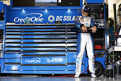 November 3, 2018 - Ft. Worth, Texas, United States of America - Kyle Larson (42) hangs out in the garage during practice for the AAA Texas 500 at Texas Motor Speedway in Ft. Worth, Texas. (Credit Image: © Justin R. Noe Asp Inc/ASP via ZUMA Wire)