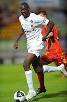 FOOTBALL - FRENCH CHAMPIONSHIP 2010/2011 - L2 - LE MANS FC v LB CHATEAUROUX - 20/08/2010 - PHOTO PASCAL ALLEE / DPPI - AMARA BABY (CHA) / JOFFREY CUFFAUT (LE MANS)