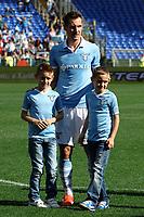 Miroslav Klose con i figli .Miroslav Klose with his children .Roma 12/05/2013 Stadio Olimpico.Football Calcio 2012/2013 Serie A.Lazio Vs Sampdoria.Foto Andrea Staccioli Insidefoto