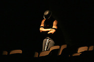 A Farrell student rehearses for the school's performance of Fame.