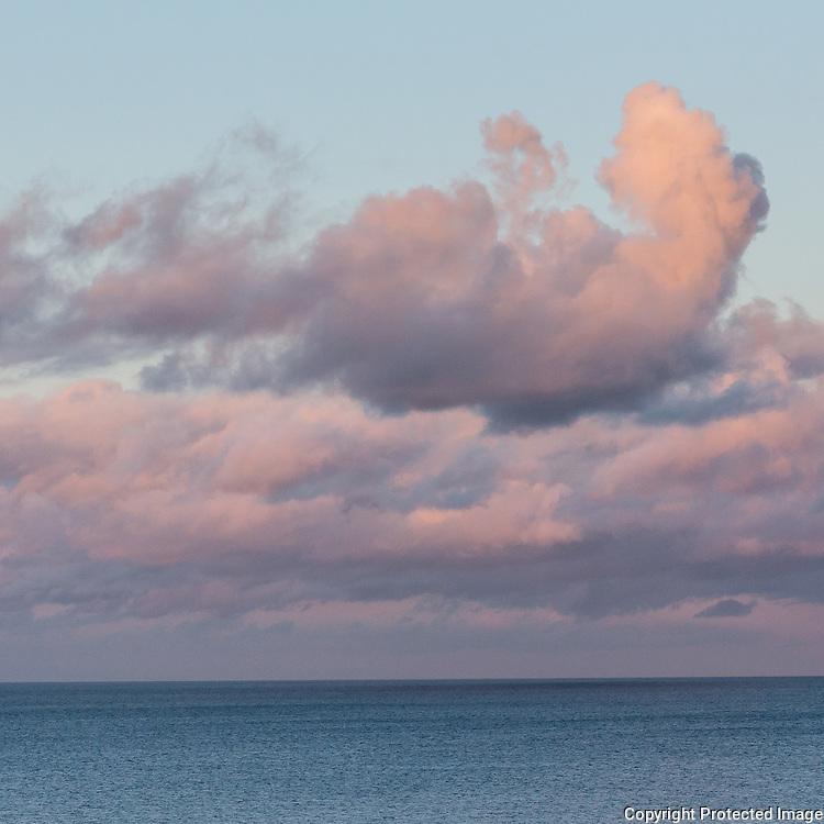 Last light from Porthmellin Head, Cornwall.
