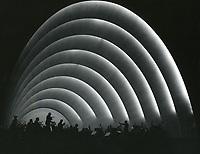 1937 The Hollywood Bowl orchestra at night