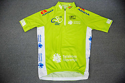 New Green Jersey for Overall winner during press conference of cycling race 24th Tour de Slovenie 2017, on May 4, 2017 in Telekom Slovenije, Ljubljana, Slovenia. Photo by Vid Ponikvar / Sportida