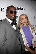 """l to r: Sean 'Diddy' Combs and Franca Sozanni at the cocktail party celebrating Sean """"Diddy"""" Combs appearance on the """" Black on Black """" cover of L'Uomo Vogue's October Music Issue"""