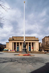 Sheffield Friday 3 April 2020 <br /> Coronavirus Covid-19 Sheffields second week of Lockdown Sheffield City Hall Music Venue and Sheffield War Memorial Deserted<br /> <br /> 3 April 2020<br /> <br /> www.pauldaviddrabble.co.uk<br /> All Images Copyright Paul David Drabble - <br /> All rights Reserved - <br /> Moral Rights Asserted -
