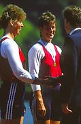 Lucerne, SWITZERLAND.  [RDA] DDR W2X Left Marina SCHROETER and Brigit PETER. 1988  Lucerne International Regatta, Lake Rotsee. June 1988 [Mandatory Credit - Peter Spurrier/Intersport Images]