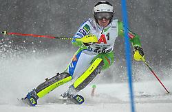 08.01.2019, Hermann Maier Weltcupstrecke, Flachau, AUT, FIS Weltcup Ski Alpin, Slalom, Damen, 1. Lauf, im Bild Marusa Ferk (SLO) // Marusa Ferk of Slovenia in action during her 1st run of ladie's Slalom of FIS ski alpine world cup at the Hermann Maier Weltcupstrecke in Flachau, Austria on 2019/01/08. EXPA Pictures © 2019, PhotoCredit: EXPA/ Erich Spiess