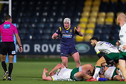 Niall Annett of Worcester Warriors watches as the ball emerges from a ruck - Mandatory by-line: Nick Browning/JMP - 21/11/2020 - RUGBY - Sixways Stadium - Worcester, England - Worcester Warriors v London Irish - Gallagher Premiership Rugby