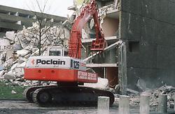Demolition of building,