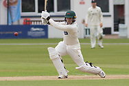 Harry Dearden batting during the Specsavers County Champ Div 2 match between Leicestershire County Cricket Club and Gloucestershire County Cricket Club at the Fischer County Ground, Grace Road, Leicester, United Kingdom on 18 June 2019.