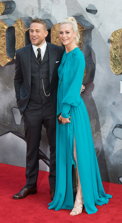 London, May 10th 2017. Charlie Hunnam and Poppy Delevingne attends the European premiere of King Arthur - Legend of the Sword at the Cineworld Empire in Leicester Square.