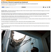 """Screengrab of """"In Pictures: Ukraine's exposed war-displaced"""" published in Al Jazeera English"""