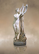 2nd century AD Roman sculpture of Pothos, a copy of a 4th century BC Greek original attributed to Skopas of Paros, inv no 6253,  The Farnese collection, Naples Museum of Archaeology, Italy ..<br /> <br /> If you prefer to buy from our ALAMY STOCK LIBRARY page at https://www.alamy.com/portfolio/paul-williams-funkystock/greco-roman-sculptures.html . Type -    Naples    - into LOWER SEARCH WITHIN GALLERY box - Refine search by adding a subject, place, background colour, museum etc.<br /> <br /> Visit our ROMAN WORLD PHOTO COLLECTIONS for more photos to download or buy as wall art prints https://funkystock.photoshelter.com/gallery-collection/The-Romans-Art-Artefacts-Antiquities-Historic-Sites-Pictures-Images/C0000r2uLJJo9_s0