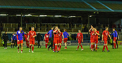 Brora Rangers players at the end. Morton 1 v 1 Brora Rangers, 3rd Round of the Scottish Cup played 23/11/2019 at Cappielow, Greenock.