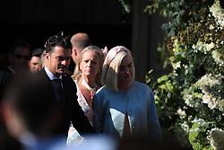 Orlando Bloom and Katy Perry leave York Minster after the wedding of Ellie Goulding and Caspar Jopling.