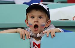 SOCHI, July 7, 2018  A fan of Russia is seen prior to the 2018 FIFA World Cup quarter-final match between Russia and Croatia in Sochi, Russia, July 7, 2018. (Credit Image: © Yang Lei/Xinhua via ZUMA Wire)