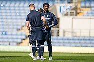 Wycombe Wanderers players inspect the pitch prior to kick off of the EFL Sky Bet League 1 match between Oxford United and Wycombe Wanderers at the Kassam Stadium, Oxford, England on 30 March 2019.