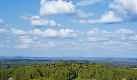 View across forests of Franconia from Hohenstein, Bavaria, Germany