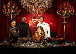 """Kim Kardashian releases a photo on Twitter with the following caption: """"""""Casino Royale! Happy Birthday John!!!!"""""""". Photo Credit: Twitter *** No USA Distribution *** For Editorial Use Only *** Not to be Published in Books or Photo Books ***  Please note: Fees charged by the agency are for the agency's services only, and do not, nor are they intended to, convey to the user any ownership of Copyright or License in the material. The agency does not claim any ownership including but not limited to Copyright or License in the attached material. By publishing this material you expressly agree to indemnify and to hold the agency and its directors, shareholders and employees harmless from any loss, claims, damages, demands, expenses (including legal fees), or any causes of action or allegation against the agency arising out of or connected in any way with publication of the material."""