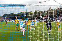 Photo: Alan Crowhurst.<br />Brighton & Hove Albion v Norwich City. Coca Cola Championship. 01/10/2005. Brighton keeper  Wayne Henderson makes a great save from Paul McVeigh.