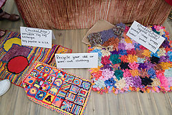 Selection of rugs made out of recycled material,