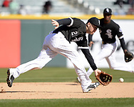 CHICAGO - APRIL 06:  Todd Frazier #21 of the Chicago White Sox fields against the Detroit Tigers on April 6, 2017 at Guaranteed Rate Field in Chicago, Illinois.  The White Sox defeated the Tigers 11-2.  (Photo by Ron Vesely)   Subject:  Todd Frazier