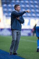 Morton's manager Allan Moore.<br /> Falkirk 3 v 1 Morton, Scottish Championship 17/8/2013.<br /> ©Michael Schofield.