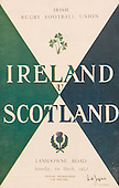 Rugby 01/03/1958 Five Nations Ireland Vs Scotland