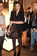 CLEMENTINE VALLET, Vogue: Fashion's Night Out: Armani. Bond st.  London. 8 September 2010.  -DO NOT ARCHIVE-© Copyright Photograph by Dafydd Jones. 248 Clapham Rd. London SW9 0PZ. Tel 0207 820 0771. www.dafjones.com.