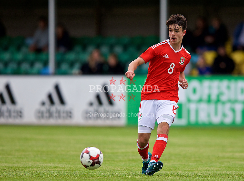 RHYL, WALES - Monday, September 4, 2017: Wales' Robbie Burton during an Under-19 international friendly match between Wales and Iceland at Belle Vue. (Pic by Paul Greenwood/Propaganda)