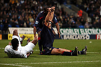 Fotball<br /> Premier League England 2004/2005<br /> Foto: Fotosports/Digitalsport<br /> NORWAY ONLY<br /> <br /> Arjan De Zeeuw celebrates scoring goal with team mates Matt Taylor <br /> <br /> Bolton Wanderers v Portsmouth 27/11/04<br /> The Premier League