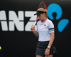 January 16, 2019 - Melbourne, AUSTRALIA - Donna Vekic of Croatia in action during her second-round match at the 2019 Australian Open Grand Slam tennis tournament (Credit Image: © AFP7 via ZUMA Wire)