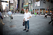 Japan - Tokyo - Portrait of man in the street of Ginza - 2012