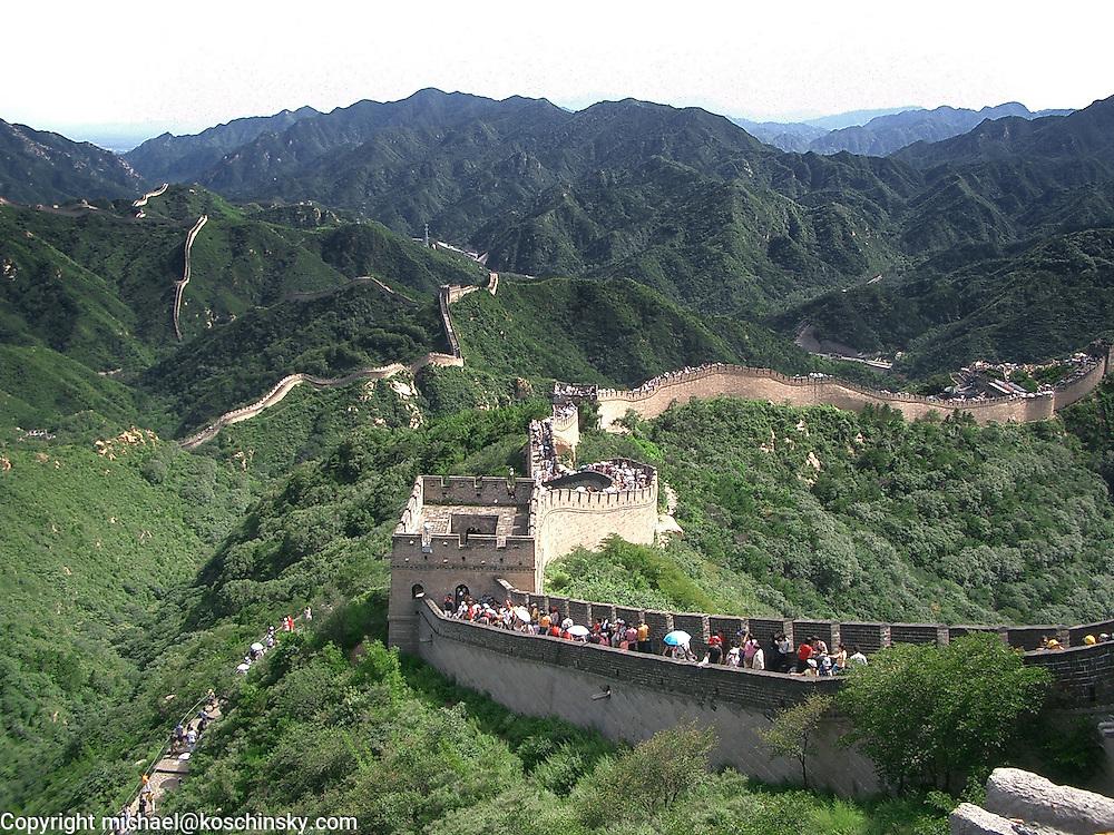 The great wall near Badaling, Summer