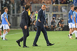 August 26, 2017 - Rome, Italy - Head coach of A.S. Roma, Eusebio Di Francesco and Luciano Spalletti during the Italian Serie A football match between A.S. Roma and F.C. Inter at the Olympic Stadium in Rome, on august 26, 2017. (Credit Image: © Silvia Lore/NurPhoto via ZUMA Press)