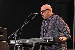 July 1, 2018 - Milwaukee, Wisconsin, U.S - MIKE SCORE of A Flock of Seagulls performs live at Henry Maier Festival Park during Summerfest in Milwaukee, Wisconsin (Credit Image: © Daniel DeSlover via ZUMA Wire)