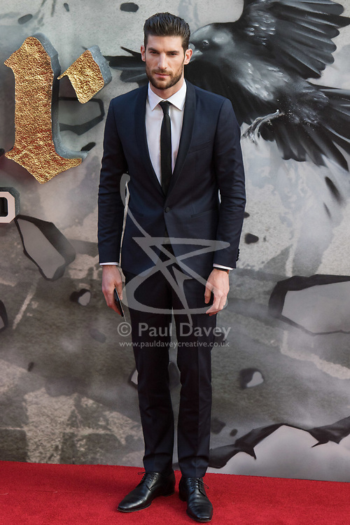 London, May 10th 2017. Ryan Barrett attends the European premiere of King Arthur - Legend of the Sword at the Cineworld Empire in Leicester Square.