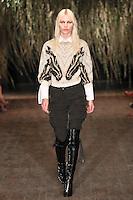 Aline Weber walks down runway for F2012 Altuzarra's collection in Mercedes Benz fashion week in New York on Feb 10, 2012 NYC's