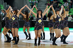 Cheerleaders Dragon Ladies during basketball match between KK Union Olimpija and Unics Kazan (RUS) of 10th Round in Group D of Regular season of Euroleague 2011/2012 on December 21, 2011, in Arena Stozice, Ljubljana, Slovenia. Unics Kazan defeated Union Olimpija 76-63. (Photo by Vid Ponikvar / Sportida)