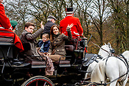 Princess Mary and Princess Josephine and Prince Christian during the annual 'Hubertusjagten' (Fox Hu